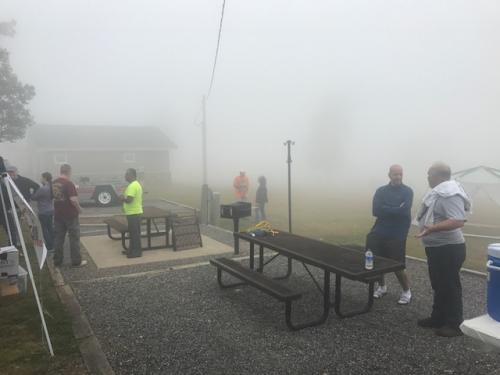 Fog doesn't stop the friends!